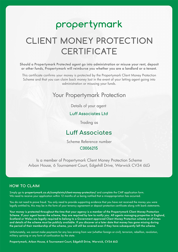 propertymark - Client Money Protection Certificate